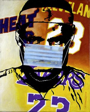 sam schwartz LeBron James painting