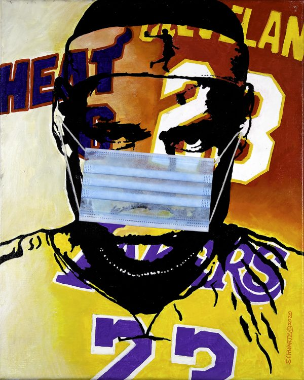 sam schwartz LeBron James painting